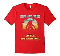 Cool Bigfoo Hide And Seek World Champion Shirts Red