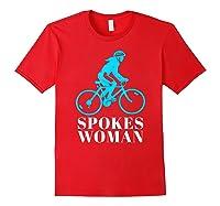 Spokes Woman Cycling Shirts Red