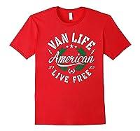 Van Dweller Clothing & Van Life Apparel - Van Life Premium T-shirt Red