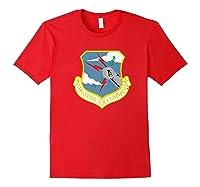 Strategic Air Command Sac Cold War Grunge T-shirt Red