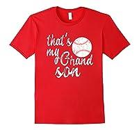That's My Grandson Mom Baseball Shirts Red