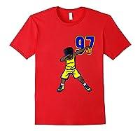 Basketball Birthday T-shirt 97 Funny Dabbing Shirt Dab Red
