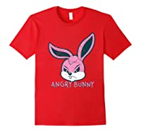Angry Bunny Rabbit Lovers Cute Bunnies Happy Easter Day Gift Shirts Red