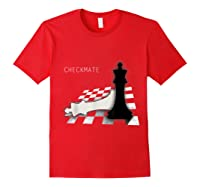 Checkmate Funny Cute Gift For Cool Chess Player Shirts Red