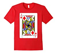 Jack Of Diamonds Playing Card Group Costume Poker Player T-shirt Red