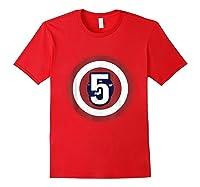 Superhero Comic Birthday T Shirt 5 Year Old Red