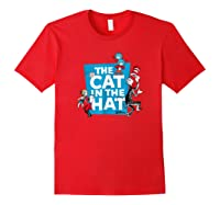 Dr Seuss The Cat In The Hat Characters Shirts Red