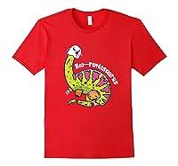 Boo Ghost Dinosaur Cute Brontosaurus Funny Halloween Gift Premium T-shirt Red