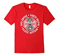 Sky Above Earth Below Peace Within Goat Yoga Cute Funny Premium T-shirt Red