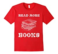 Read More Books English Tea School Reading Gift Shirts Red