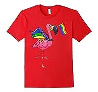 Flamingo Lgbt Pride Month T-shirt Red
