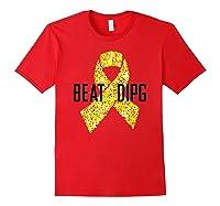 Inspirational Beat Dipg T-shirt - Dipg Awareness Red