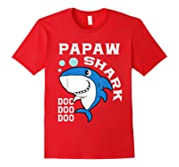 Papaw Shark Halloween Christmas Gift Shirts Red