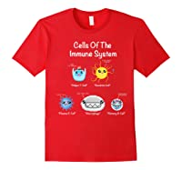 Immune System Cells Biology Cell Science Humor Immunologist Shirts Red