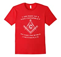 Vast Conspiracy To Make The World A Better Place Mason Shirts Red