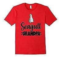 Seagull Grandpa Beach Ocean Tropical Summer Bird Premium T-shirt Red