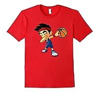 Dabbing Basketball Boy Player Australia Flag Funny Dab Dance Premium T-shirt Red
