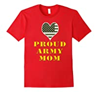 Proud Army Mom Shirts Red