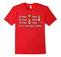 Si Hay Playa Hay Alcohol - Callaita Trap Bunny Emoji T-shirt T-shirt Red