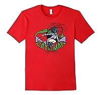 Batman Catwoman And Logo Shirts Red
