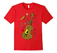 The Sound Of Guitar Tree Nature Shirts Red
