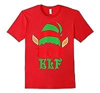 Christmas Mom Elf T Shirt Family Pajamas Xmas Mother Elves T-shirt Red