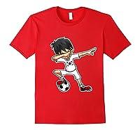 Dabbing Soccer Boy South Korea, Korean Flag Shirts Red