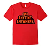 Anytime Anywhere Flyers Shirts Red