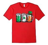 Irish Beer Ireland Flag St Patricks Day Leprechaun Shirts Red