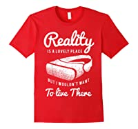 Virtual Reality Hmd Interactive Game Vr Headset Shirts Red