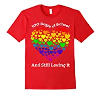 Funny 100th Day Of School Tea Heart Valentine Day Shirts Red