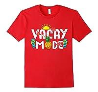 Family Vacation Holidays Vacay Mode Summer Travel Gift T-shirt Red