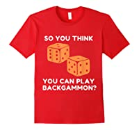 Best Ever Funny Backgammon Player Tee Board Game T Shirt Red