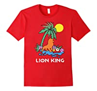 The Lion King Simba Spring Palm Tree Shirts Red