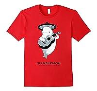 Belugariachi, Beluga Whale T-shirt, Beluga Mariachi T-shirt Red