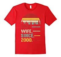 20th Wedding Anniversary Gift For Her Epic Wife Since 2000 Shirts Red