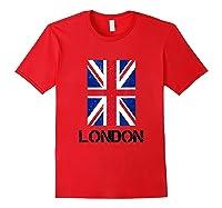 London, England Union Jack Shirts Red