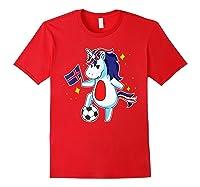 Soccer Unicorn Iceland Design Iceland Football Gift Shirts Red