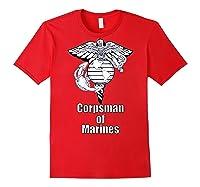 Back Design 8404 Fmf Corpsman Military Veteran Shirts Red