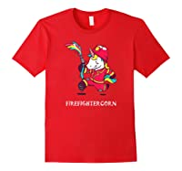 Firefightercorn Funny Unicorn As Firefighter Shirts Red