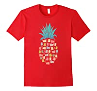Summer Hawaii Pineapple Cat Kawaii Neko Aloha Hawaiian Shirts Red