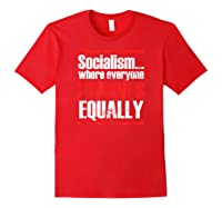 Socialism Sucks Anti Socialism Statet Shirts Red