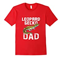 Funny Leopard Gecko Graphic Lizard Lover Reptile Dad Gift T-shirt Red