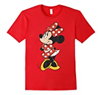 Mickey And Friends Minnie Mouse Traditional Portrait Shirts Red