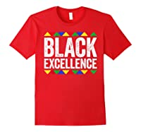 Black Excellence T-shirt Black Pride Gift T-shirt Red