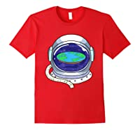 Flat Earth Map Design For A Flat Earth Society Shirts Red