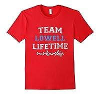S Team Lowell Groom Squad Custom Bachelor Party Wedding T-shirt Red