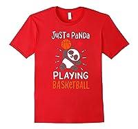 Basketball Panda Premium T-shirt Red