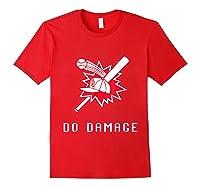 Done Damage Red Boston Championship Baseball Fan Awesome T-shirt Red