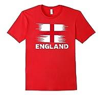 England English Flag Sports Soccer Football Gift Shirts Red